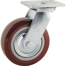 H1 Roulement à billes à double roulement Roulettes pivotantes PU
