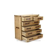 Gabinete de madera industrial y 6 cajones
