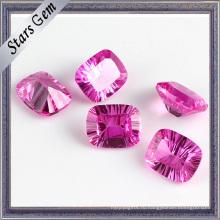 Розовый Octagon Millennium Cut Модный кубический драгоценный камень циркония