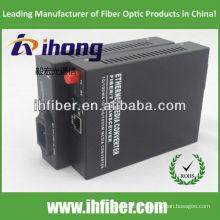 10/100 / 1000M FC SM Single Fibra Óptica Media Converter