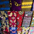Super Wax tissus de coton 40 X 40 96X96 sur le marché de l'Afrique