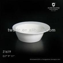 Белый керамический соевый соус чаша для отель и ресторан