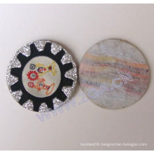 Fashion badge with metallic thread,Woven Badge,embroidery, trims , cloth accessories