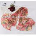 W3016 Ningbo Lingshang 2014 Preço de fábrica mais recente Fêmea 100% poliéster lenço hijab