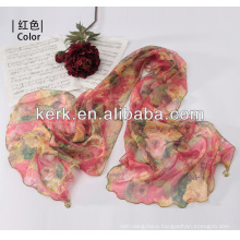 W3016 Ningbo Lingshang 2014 Latest Factory Price Female 100% Polyester hijab scarf