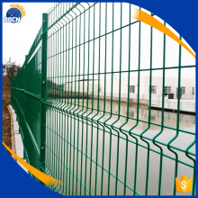 black welded wire fence