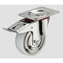 3inch Industrial Caster Nylon Caster Flat with Side Brake