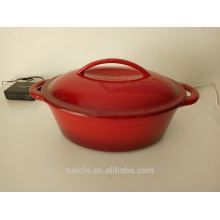 oval cast iron cooking casserole