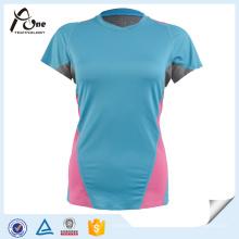 Vêtements de sport respirant à manches courtes pour femmes