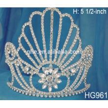 Coronas personalizadas tiaras princesa vestir hasta conjunto chica corona al por mayor