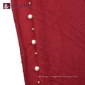 HEC Made In China Custom Fashionable Red Large Shawl Scarf With Logo