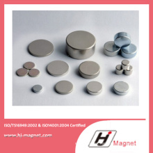 High Power Strong N35-52 Neodymium Disc Magnet with ISO9001 Ts16949
