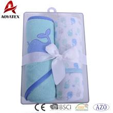 Gewohnheit, die Baby Waschlappen gesticktes Babybadetuch druckt