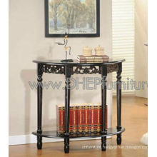 Wooden Console Table, Halfmoon Table