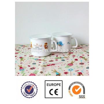 Top Quality animal decal custom enamel milk mug