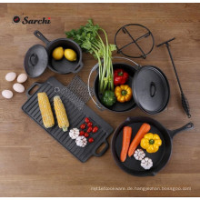 Outdoor Gourmet 6-teiliges Gusseisen Kochgeschirr Set