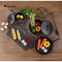 Outdoor Gourmet 6-Piece Cast Iron Cookware Set