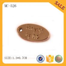 MC526 пользовательских металлических ювелирных тегов оптовой