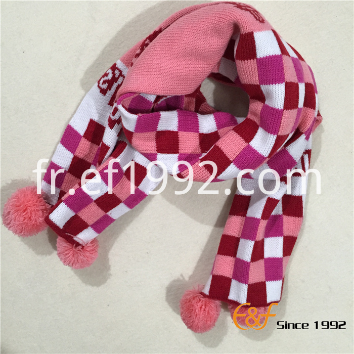 multicolor plaid jacquard scarf