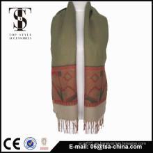Invierno mujeres suave jacquard patrones bufanda pequeño tamaño chal