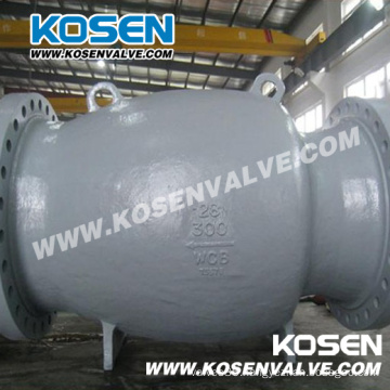 Cast Steel Nozzle Check Valve Flanged Ends