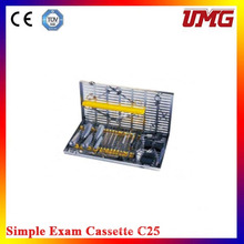 C25 Dental Instruments Cassette esterilizadora dental inoxidable
