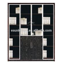 Estante de escritório de móveis usado com cor de carvalho escuro, móveis para escritórios à venda (KB844-2)