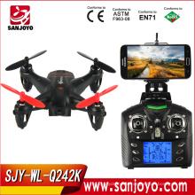 Лучшие продажи мини-Дрон для wltoys Q242 - канал K с fpv беспроводной доступ в интернет 4 6 оси гироскопа 2.4 ГГц RC горючего с 2.0 MP HD камера SJY-Q242K