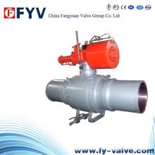 API6d Válvula esférica soldada com conexão longa pneumática