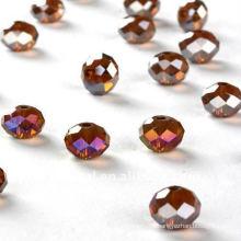 Crystal glass cut beads