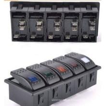 2-8way Marine 12 V LED Wippschalter für Schalttafeln (MY)