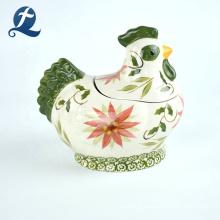 Vente chaude mignon coq forme décor à la maison personnalisé tirelire en céramique