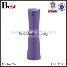 2017 hot new products cosmetic 12ml 16ml 20ml women shaped perfume bottle purple plastic cover spray glass bottlee perfume