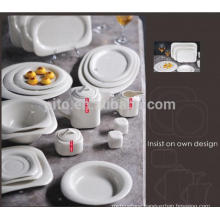 P&T porcelain factory square dinner plates, porcelain dinner sets, new design for restaurants