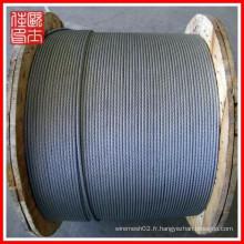 Vente en gros de câbles en acier 1x7 (fabrication)