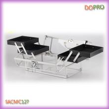 Medium Size Acrylic Makeup Box with Four Trays (SACMC127)