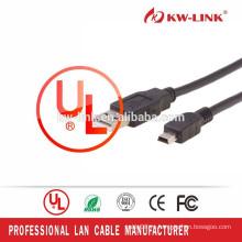 Кабель USB фабрики Shenzhen AM к миниому 5pin с двойным экраном