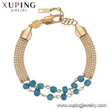 74021 Xuping trending gold plated bead bracelet