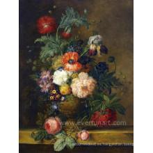 Pintura pintada mano de la flor de la venta caliente
