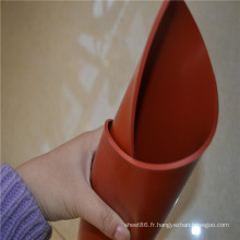 Feuille en caoutchouc de silicone de haute température de couleur rouge