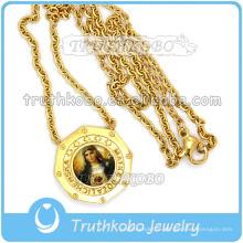 Médaille en or 18 carats avec le Saint-Coeur de Jésus