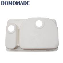Stylish luxury matt white/glossy high quality matt white solid surface composite kitchen bowl sink