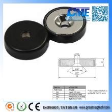 39lb Neodymium Rubber Coated Magnets