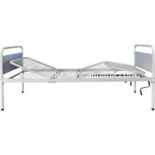 Doble manivelas plegables con acero weldmesh cama cama de hospital bordo