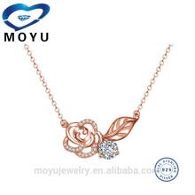 fashion jewelry turkey rose flower women elegant party occasion necklace 18''