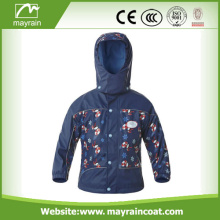 Full Print Thicken Warm PU Children Rainsuit