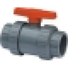 Válvula de bola verdadera de la unión (Q61F-6S), válvula de bola plástica, válvula de bola del PVC