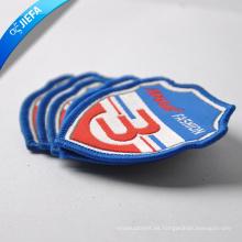 Logotipo de la marca de alta calidad logotipo de la marca tejida parche / insignia