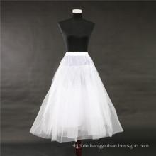 2017 Heißer Verkauf preiswerter weißer Krinoline-Brauthochzeitsspitze-Petticoat
