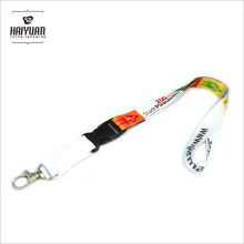 Poliéster Eco Friendly Custom Smooth Printed Lanyard
